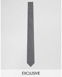 Reclaimed Vintage Check Tie In Black