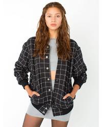 Black Check Varsity Jacket