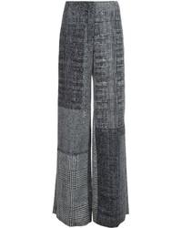 Black Check Wide Leg Pants