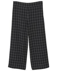Mango Window Trousers Black