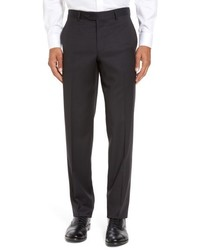 Black Check Wool Dress Pants