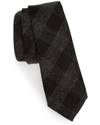 Tuxedo check wool tie medium 783948