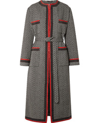 Gucci Grosgrain Trimmed Wool Blend Boucl Coat