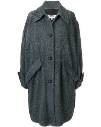 MM6 MAISON MARGIELA Oversized Chevron Knit Coat