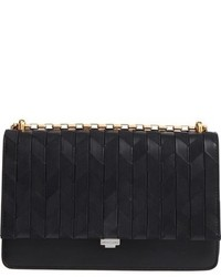 Michl kors medium yasmeen chevron leather clutch black medium 963560