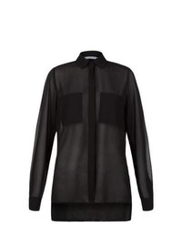 New Look Black Sheer Utility Blouse