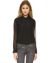 DKNY Collared Lace Blouse