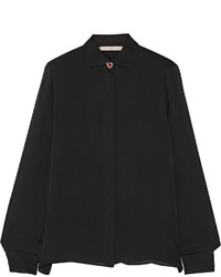 Christopher Kane Embellished Silk Chiffon Shirt