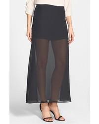 Nikki Rich Morganite Chiffon Overlay Maxi Skirt