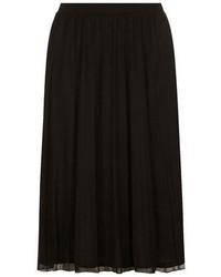 Black Chiffon Midi Skirt