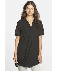 Pleione faux wrap tunic blouse medium 322076