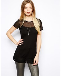 d30964ec84d Black Chiffon Tunics for Women | Women's Fashion | Lookastic UK