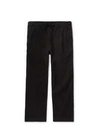 SAVE KHAKI UNITED Black Easy Cotton Twill Drawstring Chinos
