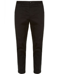 Dolce & Gabbana Contrast Piping Stretch Cotton Chino Trousers