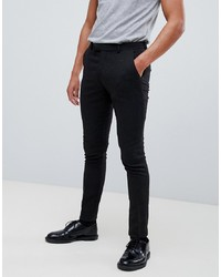 ASOS DESIGN Super Skinny Smart Trouser In Black Wool Mix