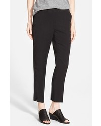 Eileen Fisher Tapered Lightweight Twill Ankle Pants
