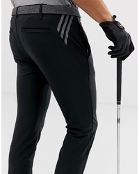 ADIDAS GOLF Ultimate 365 3 Stripe Tapered Trousers In Black