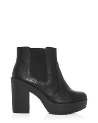 New Look Black Chunky Platform Chelsea Boots