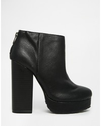 2fff0e3e02cb ... Call it SPRING Leawen Black Block Heel Shoe Boots ...