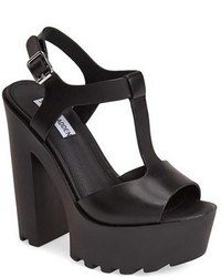 fef14c7a46d Women s Black Leather Heeled Sandals by Steve Madden
