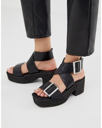 ASOS DESIGN Halford Ed Sandals In Black