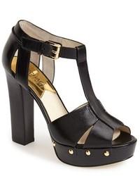 MICHAEL Michael Kors Michl Michl Kors Beatrice Leather T Strap Platform Sandal