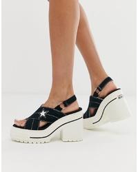 Converse One Star Black Heel Sandals