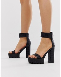 SIMMI Shoes Simmi London Kamaya Black Ed Sandals