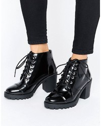 London Rebel Lace Up Chunky Boot