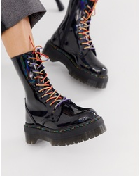 Dr. Martens Jadon X Flatform Chunky Leather Boots In Black