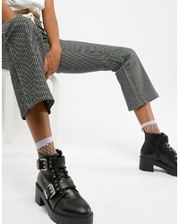 ASOS DESIGN Rouge Chunky Lace Up Boots