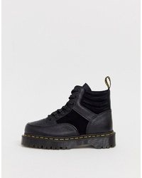Dr. Martens Zuma Flat Chunky Leather Boots In Black