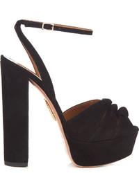 Mira knot suede platform sandals medium 1128600