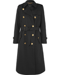 Givenchy Belted Double Breasted Cotton And Linen Blend Twill Coat