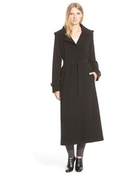 Gallery Belted Long Nepage Coat With Detachable Hood Lining