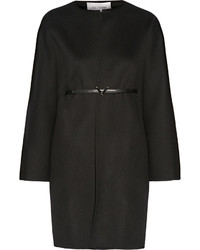 Valentino Belted Wool And Cashmere Blend Coat Black