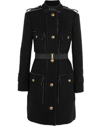 Lanvin Belted Wool And Cotton Blend Coat