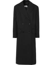MM6 MAISON MARGIELA Bow Detailed Double Breasted Cady Coat