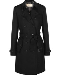 Burberry Brit Cotton Blend Gabardine Trench Coat