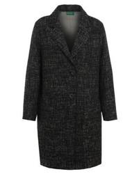 Benetton Classic Coat Black Marled