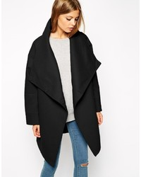 Asos Collection Coat With Wrap Front Funnel Neck