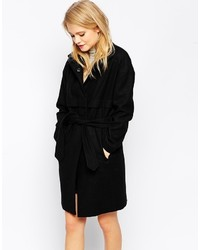 Asos Collection Cocoon Coat With Funnel Neck