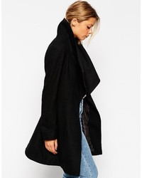 Asos Collection Skater Coat With Funnel Neck