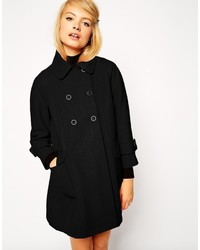 Asos Collection Swing Coat With Seam Detail