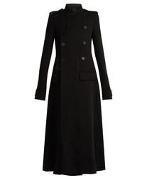 Haider Ackermann Contrast Collar Raw Edge Coat