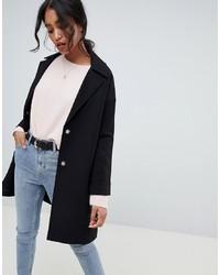 ASOS DESIGN Crepe Boyfriend Coat