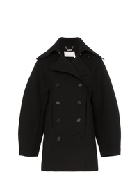 Chloé Double Breasted Puff Sleeve Wool Coat