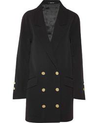 Maison Margiela Double Breasted Stretch Wool Twill Coat