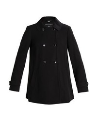 Dorothy Perkins Double Breasted Swing Classic Coat Black
