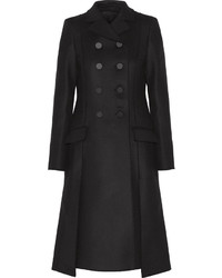Proenza Schouler Double Breasted Wool Blend Gabardine Coat